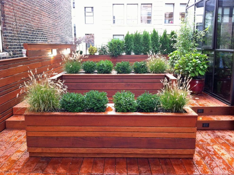 Hayward Lumber Redwood City with Contemporary Deck  and Contemporary Custom Deck Garden Design Grasses Ipe Landscape Lighting Modern Ny Nyc Planters Pots Roof Garden Steps Terrace Urban Wood Deck Wood Fence Wood Planting Boxes