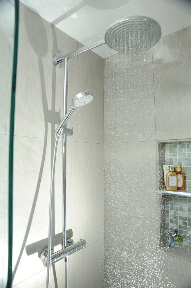 Head Start Fargo With Contemporary Bathroom And 12x12 Tile Accent Design Glass Niche Limestone Modern Open