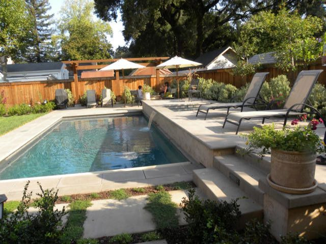 Healdsburg Spa   Mediterranean Pool Also Small Back Yard Pool Terraced Spa