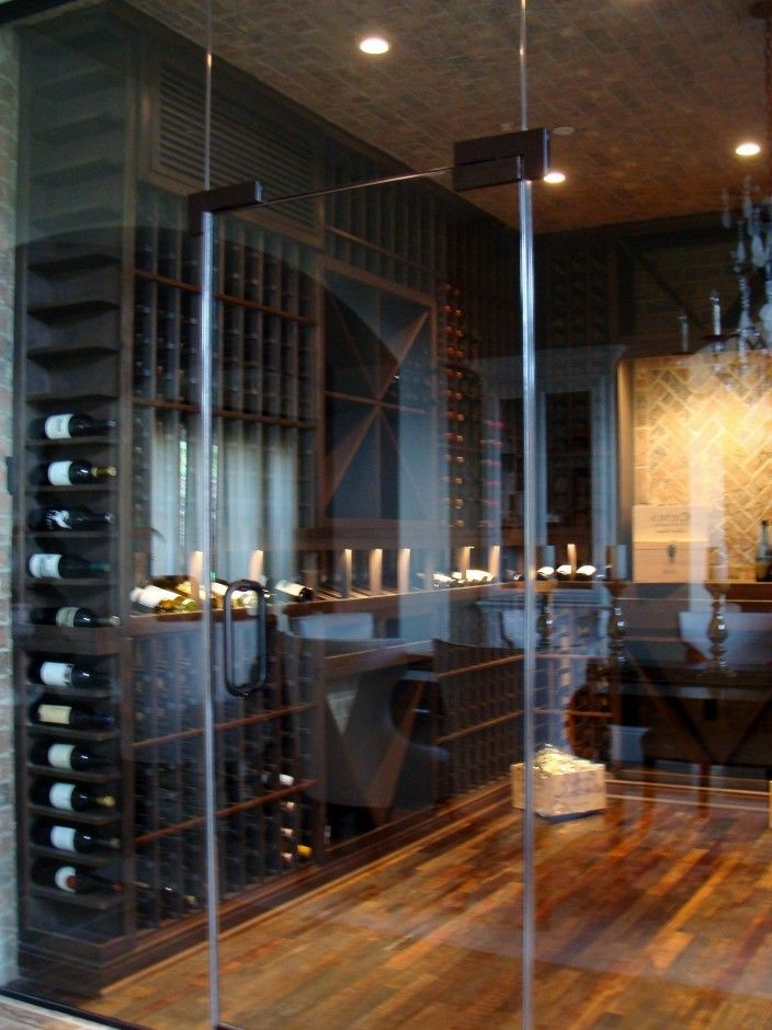 Herculite Doors   Contemporary Wine Cellar  and Custom Wine Cellar Door Custom Wine Cellar Door Orange County