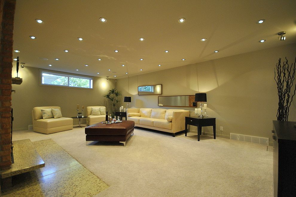High Hat Lights with Contemporary Family Room  and Edmonton Home Staging Edmonton Stagers Family Room Home Staging Home Stagers Home Staging Real Estate Staging in Edmonton Stagers Staging Staging Companies in Edmonton Staging in Edmonton