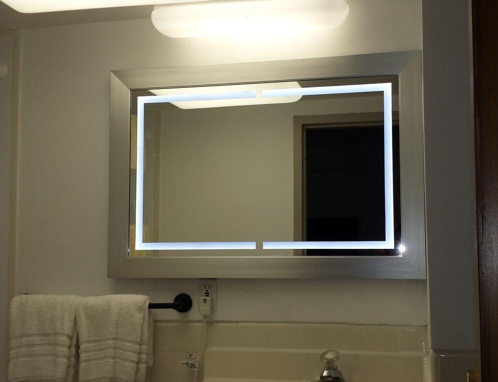 Holiday Inn Clinton Nj   Contemporary Bathroom Also Led Lighted Wall Mirror