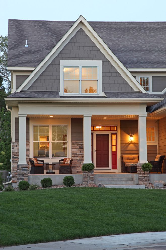 Home Depot Durham with Traditional Exterior Also Column Grass Gray Shingle Siding Lawn Patio Furniture Pillar Screen Door Stone Column Stone Exterior Stone Pillar Stone Siding Wall Sconce White Window Trim Wicker Patio Furniture Wood Front Door