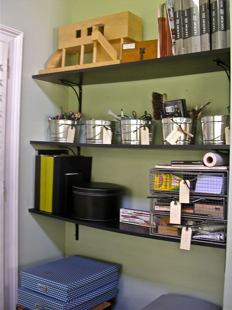 Home Depot Metal Shelving   Eclectic Home Office  and Eclectic