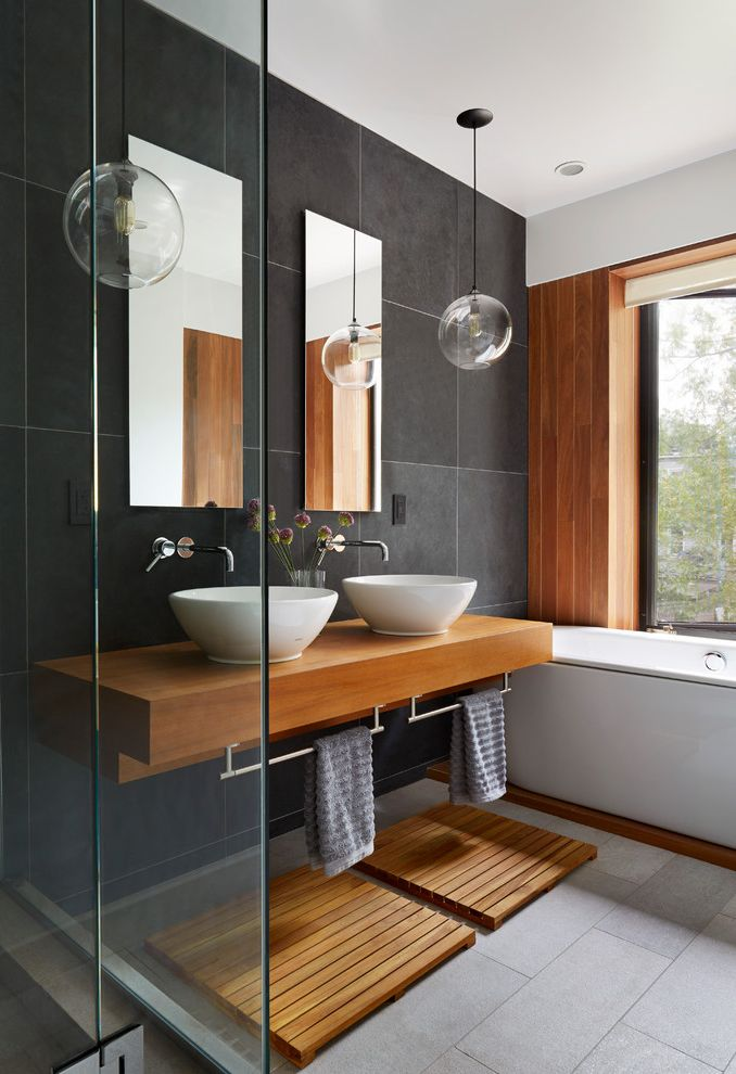 Home Depot Rancho Cucamonga Contemporary Bathroom Also Brooklyn Double Sinks His And Hers New York Pendant Lights Slate Tile Steel Windows Teak Towel Bar Under Sink Townhouse Vessel Sink Wall Mirrors Wall