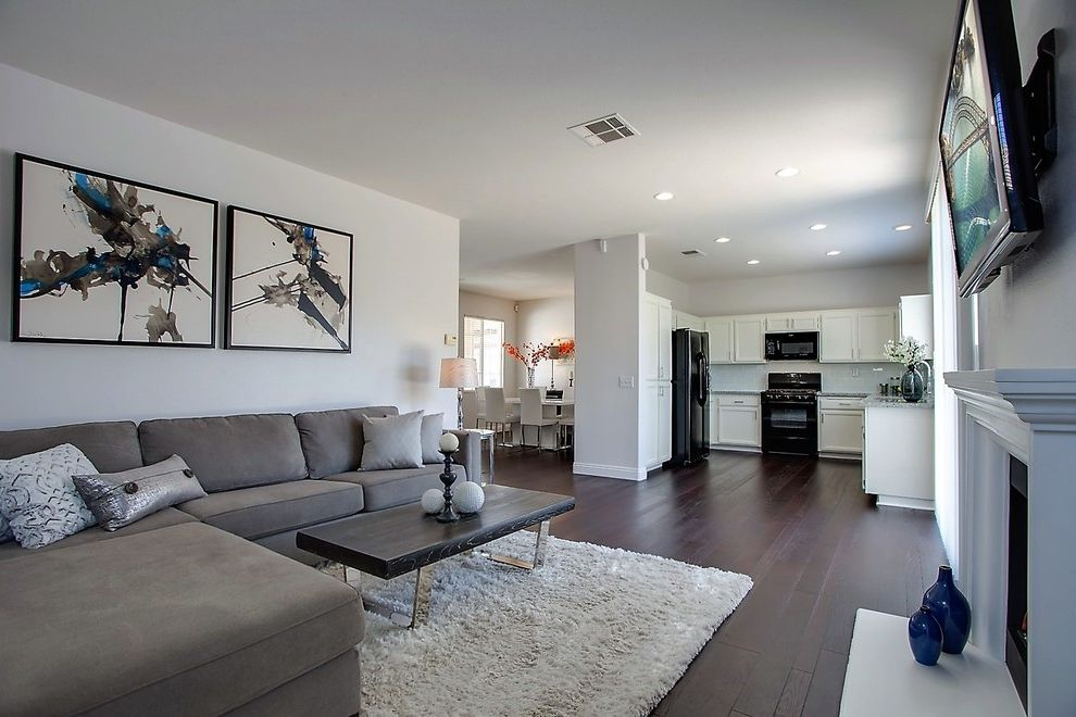 Home Depot Rancho Cucamonga   Contemporary Family Room  and Home Staging Rancho Cucamonga