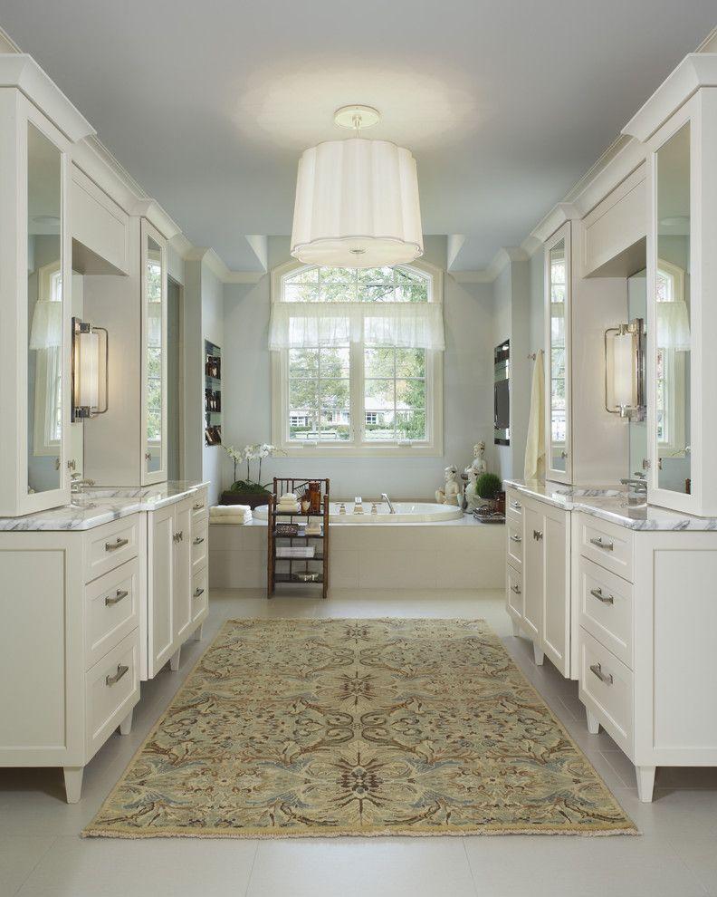 Contemporary Bathroom And Area Rug