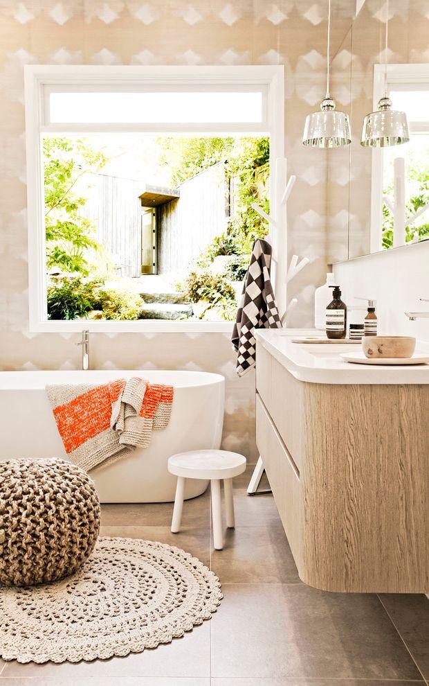 Contemporary Bathroom And Basin Bath