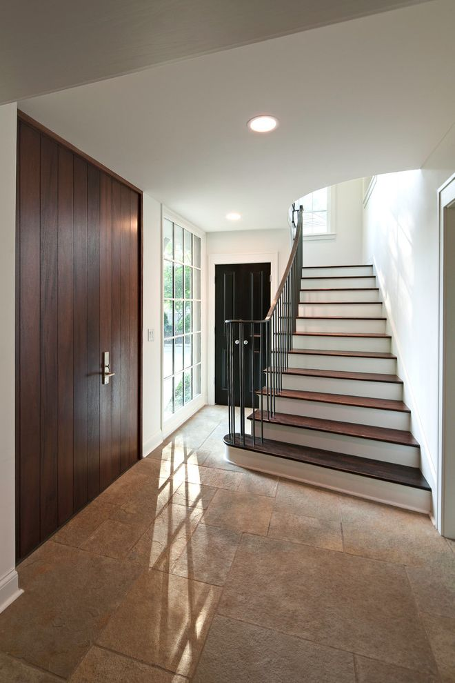 Home Inspection Memphis Tn   Contemporary Staircase Also Contemporary Art Contemporary Hall Contemporary Seating Contrast Large Windows Modern Art Modern Farmhouse Modern Staircase Stairs Stone Floor Wood Door Wood Stairs