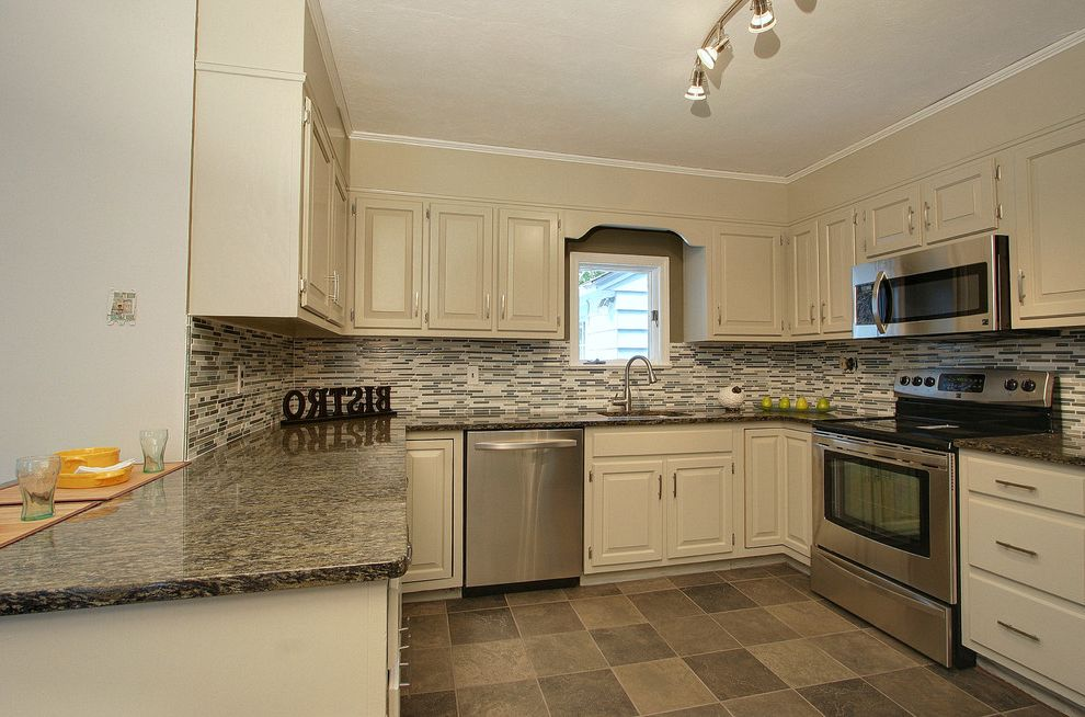 Homegoods Norwalk Ct with Modern Kitchen  and Backsplash Tiles Glass Glass Tiles Granite Counter Top