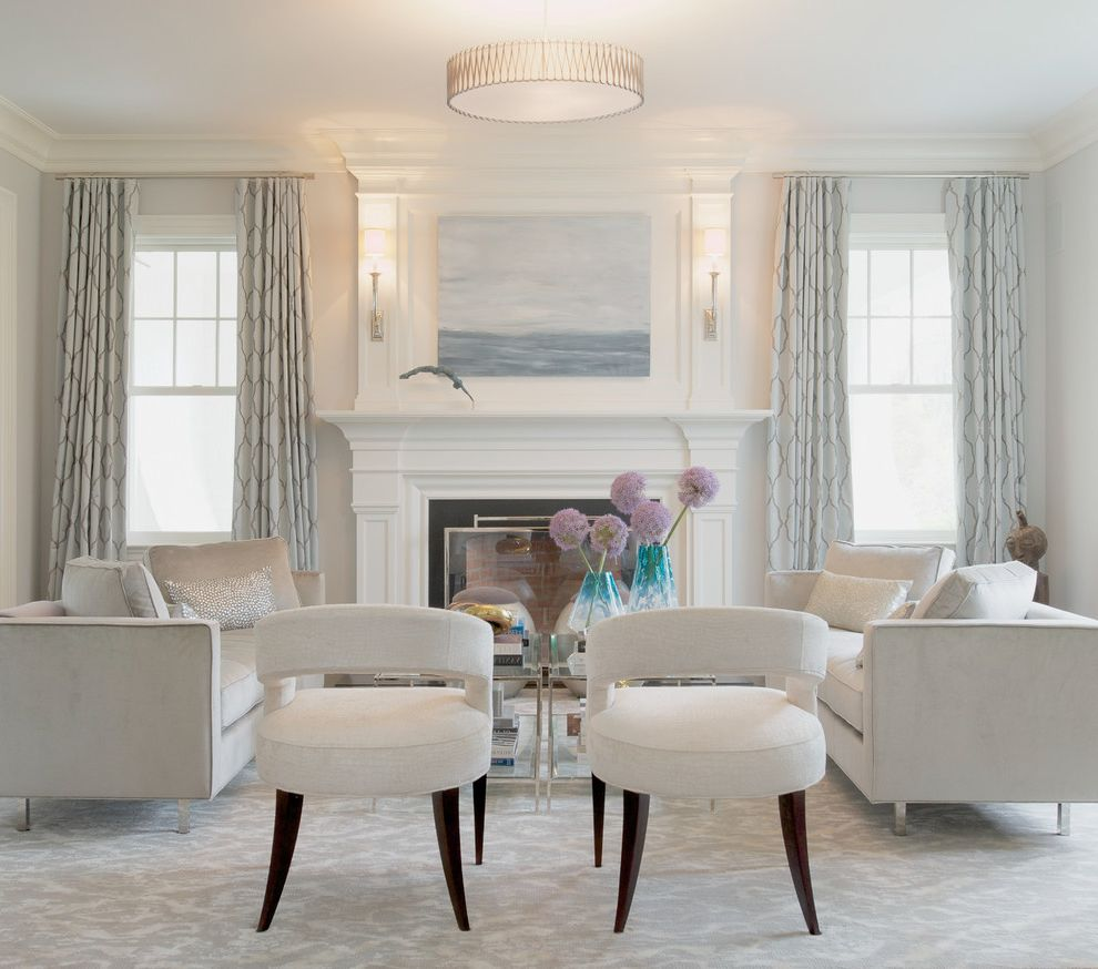 Homegoods Norwalk Ct with Traditional Living Room Also Beach Picture Blue Vases Carpet Crown Molding Lucite Console Luxury Mirrors Pendant Barrel Light Shine Silver Gray Palette Textured Curtains White Furniture Zen