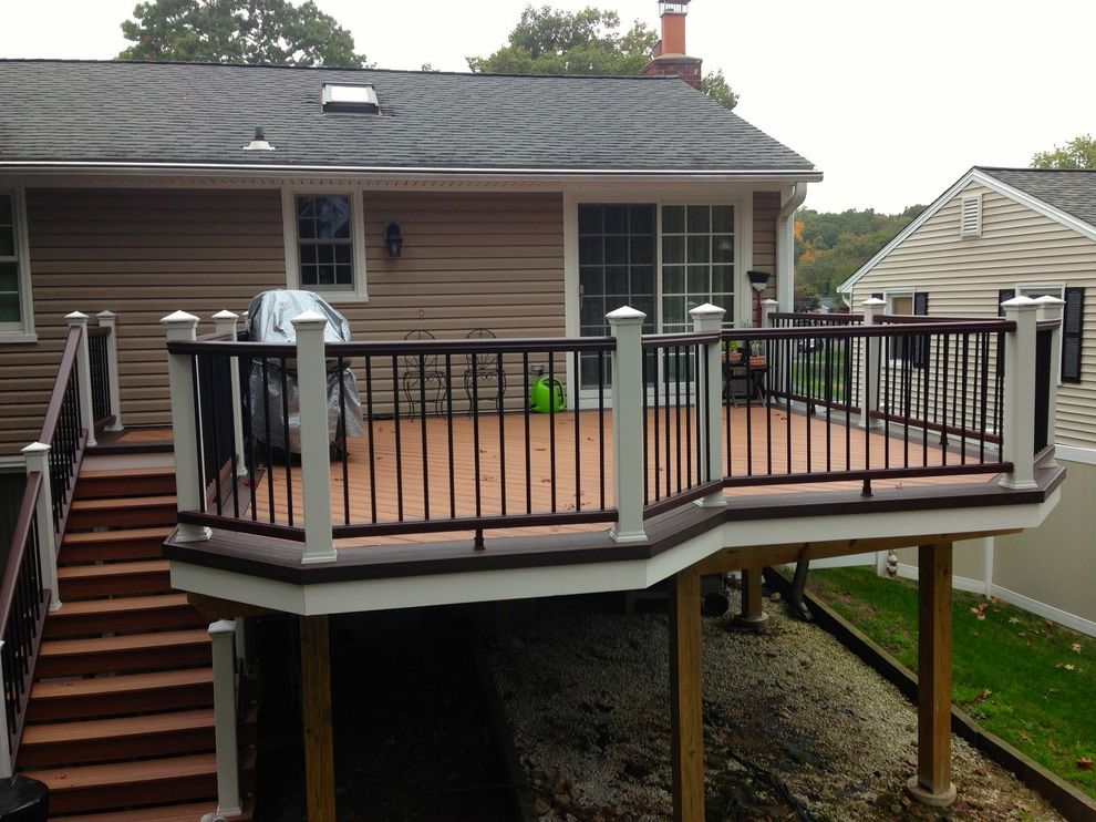 Homegoods Norwalk Ct with Transitional Deck  and Norwalk Ct Trex Deck and Rail Perimeter Trim