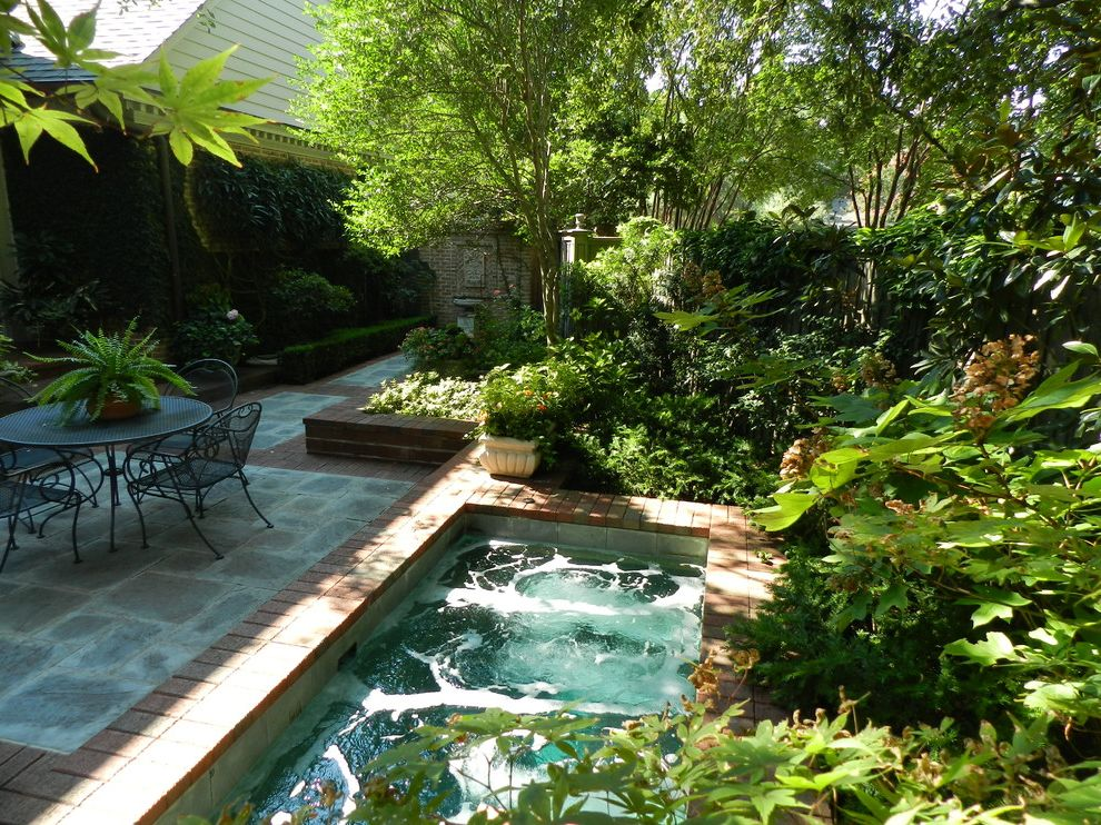 Hot Water Baseboard Covers with Traditional Landscape Also Bluestone Brick Paving Courtyard Ferns New Orleans Courtyard Patio Furniture Spa Water Feature