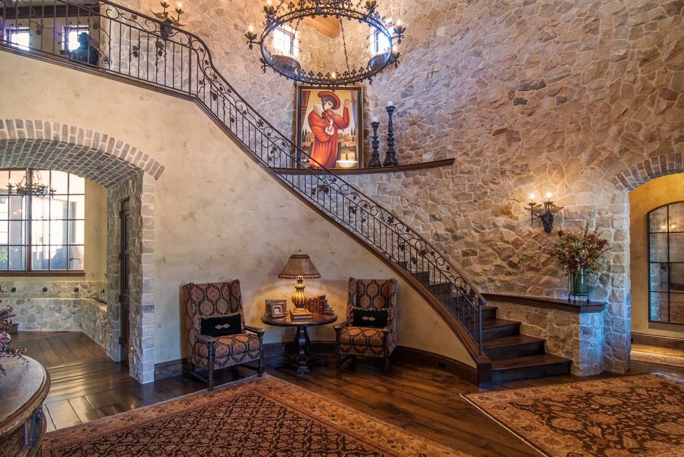 Housemaster Home Inspection Reviews with  Entry Also Distressed Hardwood Floor Iron Railing Stone Wall Tuscan Entry Venetian Plaster
