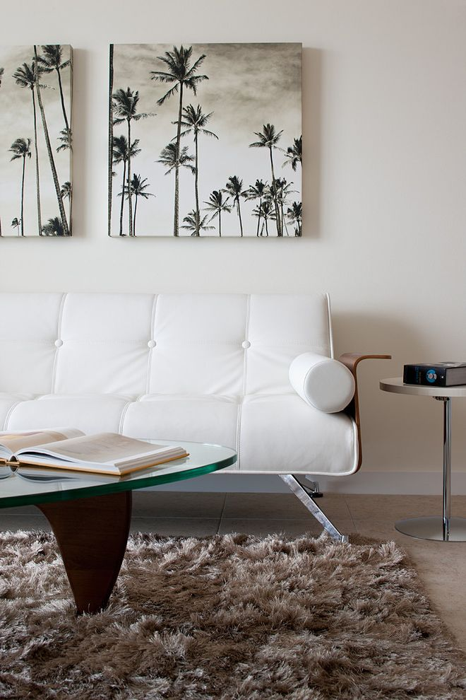 How Much Are Futons with Modern Bedroom Also Area Rug Art Work Black and White Photography Chrome Side Table Coffee Table Palm Tree Tile Floor Tufted Sofa White Leather Upholstered Sofa