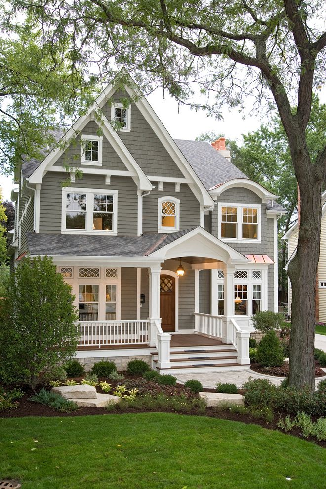 How Much Does an Architect Make   Traditional Exterior Also Exterior Lighting Eyebrow Dormer Front Porch Gable Roof Horizontal Siding Landscape Pendant Lighting Shingle Roof Shingle Siding Steps White Trim Window Trim