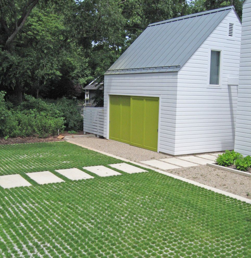 How Much Does an Asphalt Driveway Cost with Farmhouse Exterior  and Barn Farmhouse Gable Geometric Geometry Grass Grasscrete Gravel Green Garage Door Lawn Linear Metal Roof Parking Path Pavers Permeable Paving Roof Steps Turf Walkway Wood Siding