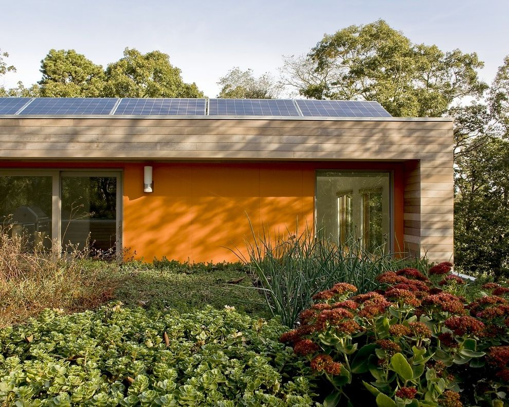 How Much Does Solar Panels Cost   Modern Exterior Also Cedar Siding Fiber Cement Green Roof Leed Modern Solar