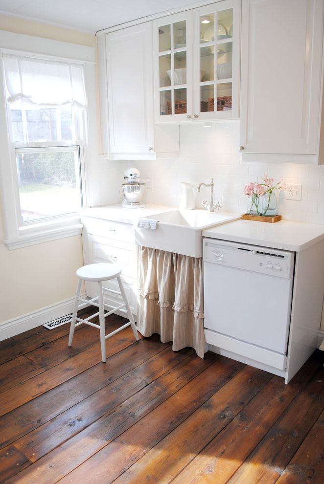 How Much is the Biltmore Estate Worth   Shabby Chic Style Kitchen  and Barnboard Floor Country Farm Kitchen Farm Sink Glass Front Cabinet Ikea Kitchenaid Mixer Natural Light Shabby Chic Sink Skirt Stool White Cabinets Whtie Counter