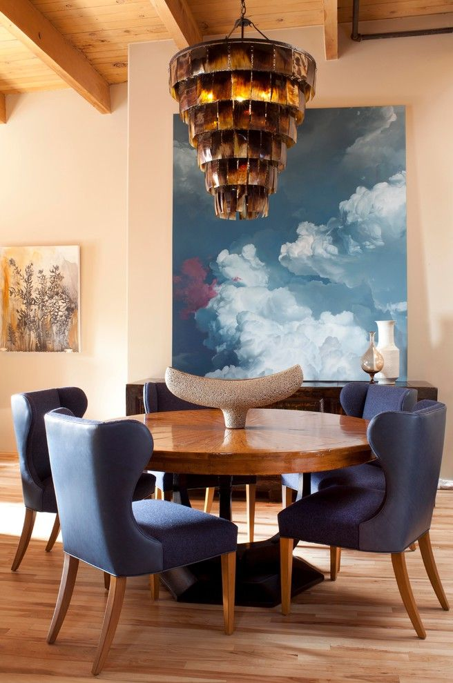 How to Bid a Painting Job with Contemporary Dining Room  and Art Deco Asian Blue Dining Chair Bold Denver Flannel High Ceiling Horn Large Artwork Leather Loft Modern Natural Round Dining Table Upholstered Dining Chair Wood Wood Ceiling