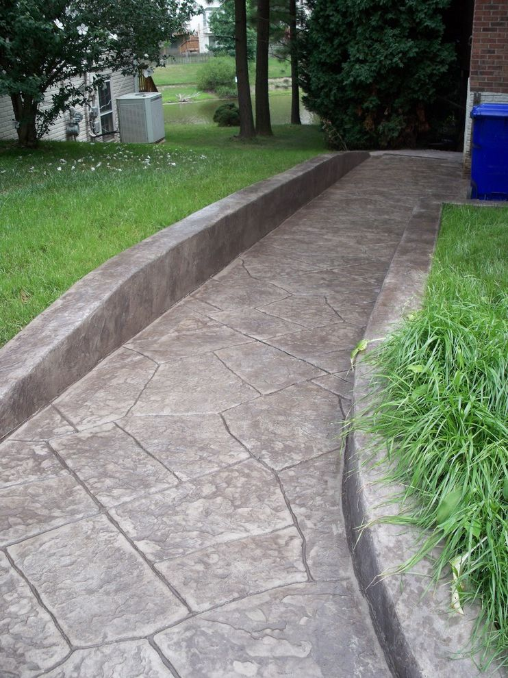 How to Build a Wheelchair Ramp with Eclectic Landscape Also Eclectic