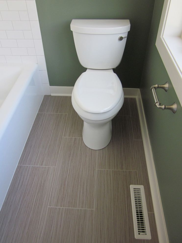 How to Clean Luxury Vinyl Tile with Traditional Bathroom  and Vct Flooring