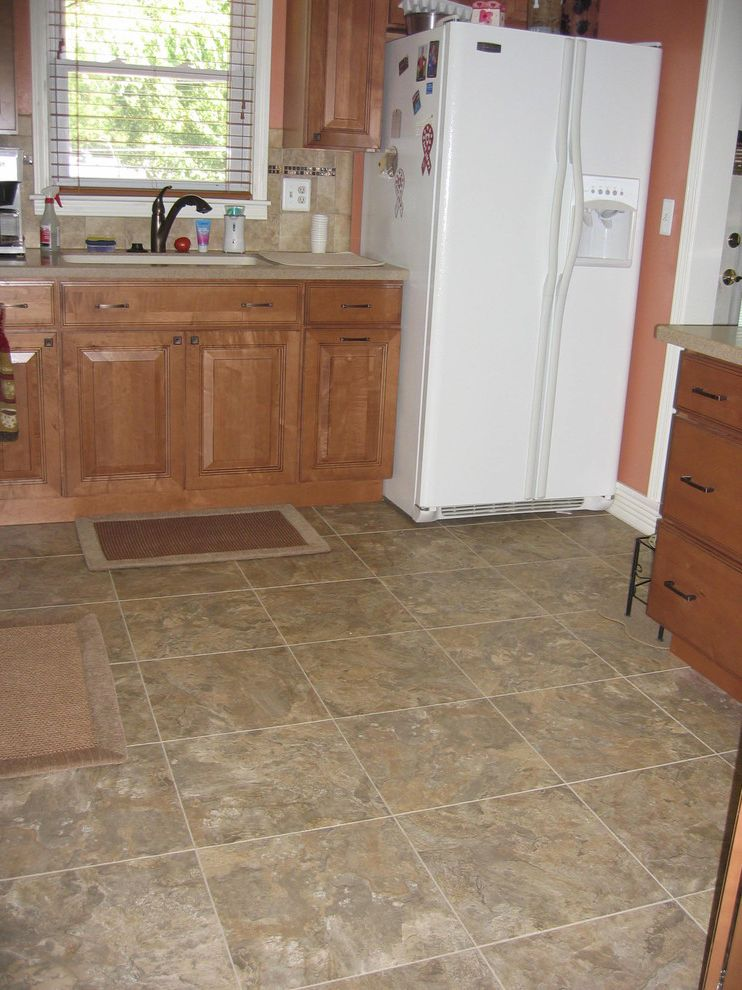 How To Clean Luxury Vinyl Tile With Traditional Kitchen
