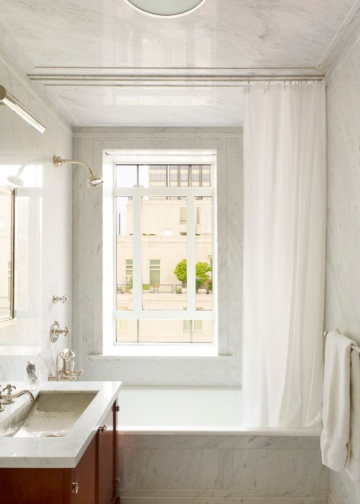 How To Clean Shower Curtain Traditional Bathroom And Vanity Bathtub Freestanding Window