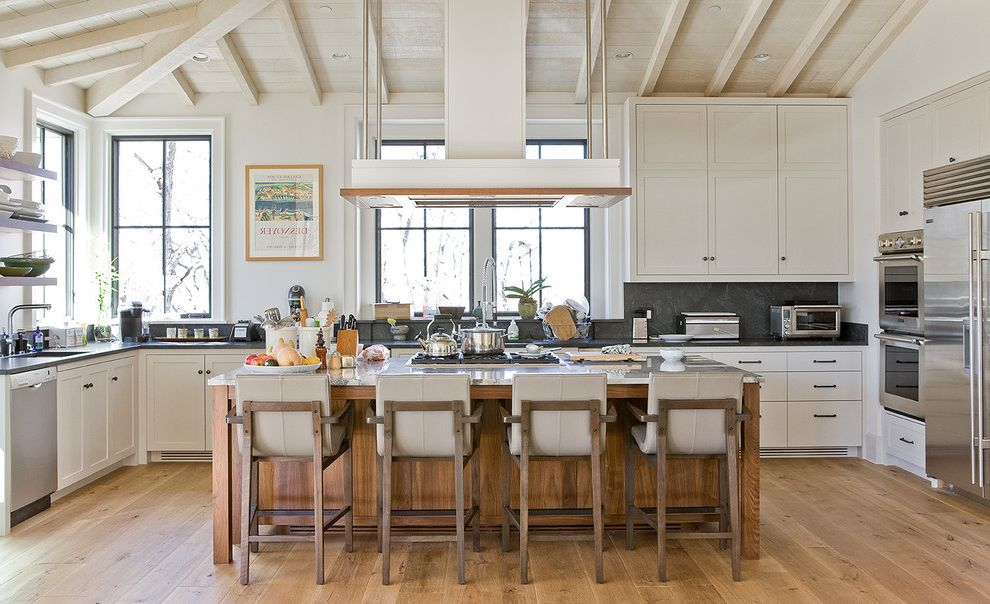 How to Clean Stove Top Grates   Transitional Kitchen  and Beams Counter Stools Paneled Ceiling Recessed Lighting Tall Ceilings Vent Windows