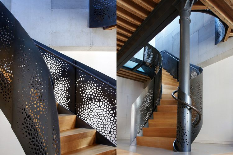 How to Cut Sheet Metal with Modern Staircase Also Modern