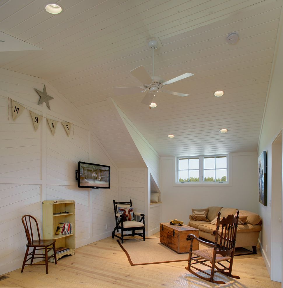 How to Dye Burlap   Scandinavian Family Room Also Antique Area Rug Armchair Ceiling Fan Ceiling Lights Farmhouse Pine Flooring Rocking Chair Slanted Ceiling Sofa Tg Ceiling Trunk Vintage Wall Art Wall Mounted Tv Whitewashed