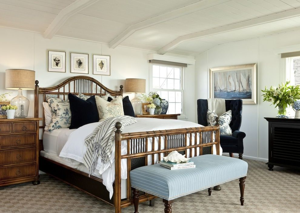 How to Dye Burlap with Traditional Bedroom  and Traditional