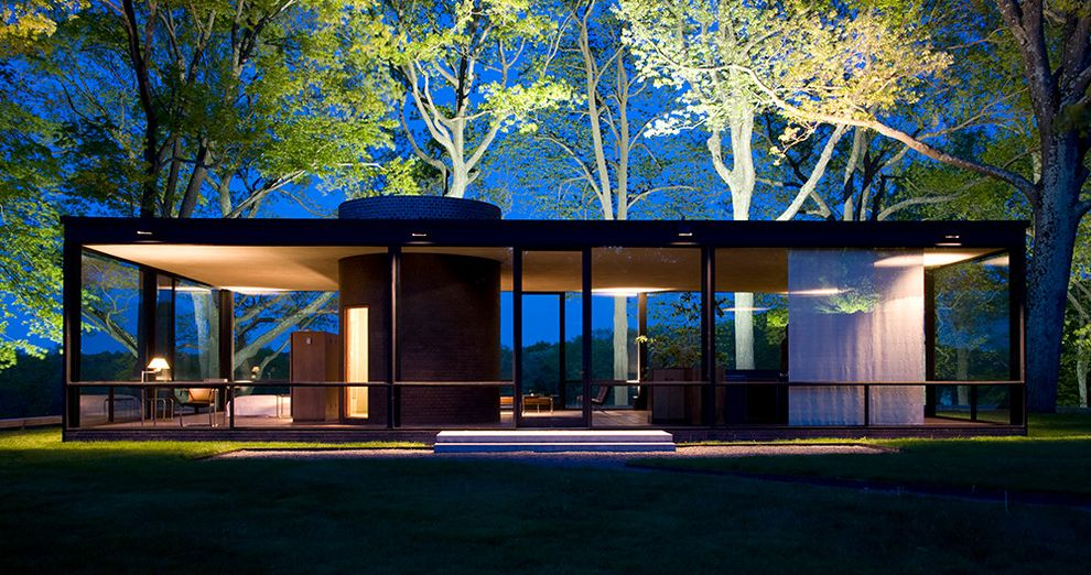 The Glass House At Dawn. $style In $location