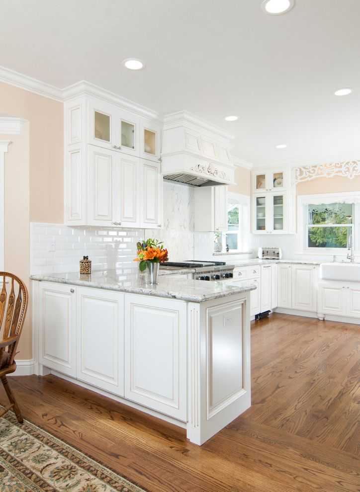 How to Hang Cabinet Doors with Traditional Kitchen and Bright Clerestory Cabinets Recessed Lighting White Ceiling White Countertop