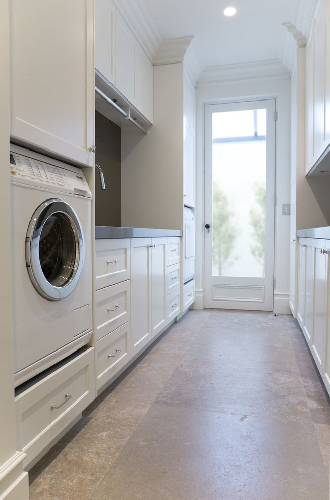 How To Hang Cabinet Doors With Traditional Laundry Room And