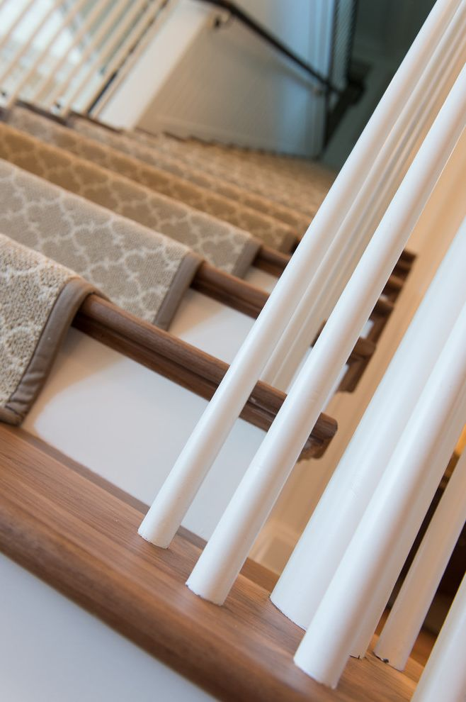 How to Install Carpet on Stairs   Traditional Staircase  and Traditional