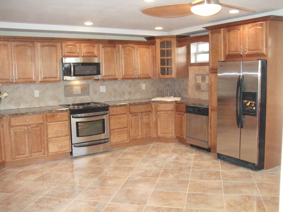 How to Install Formica   Traditional Kitchen  and New York Stainless Steel Stove Staten Island Tile Backsplash Traditional Kitchen