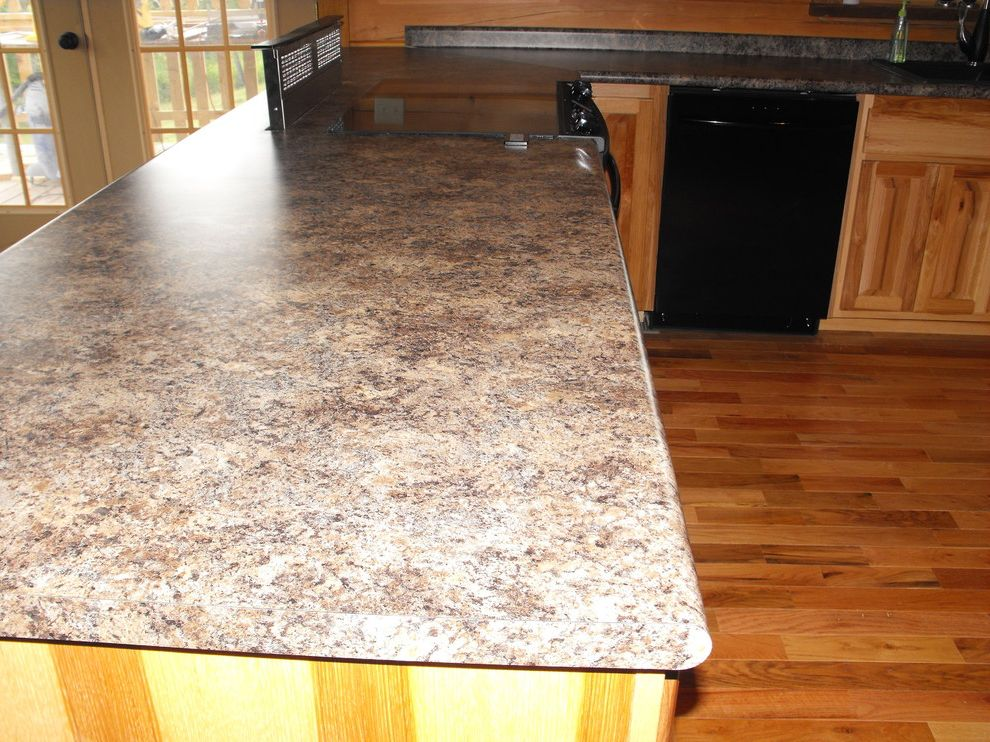 How to Install Formica   Traditional Spaces  and Bar Top with Pop Up Vent Jamocha Granite Formica Laminate with a Bulllnose Edge Laminate Countertop Installs We Sell and Install Formica A