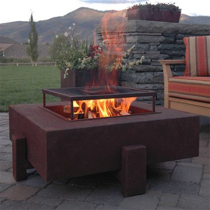 How to Make a Propane Fire Pit   Contemporary Patio  and Fire Pit Modern Natural Gas Propane Steel Wood