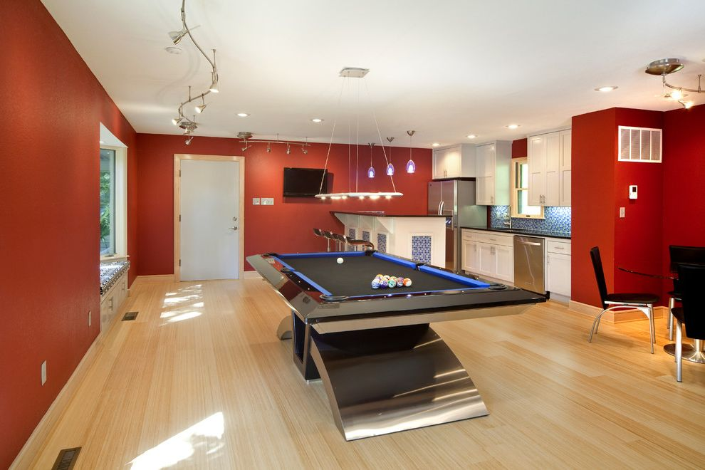 How To Move A Pool Table With Contemporary Family Room And Bar Area Billiards Bold Ceiling