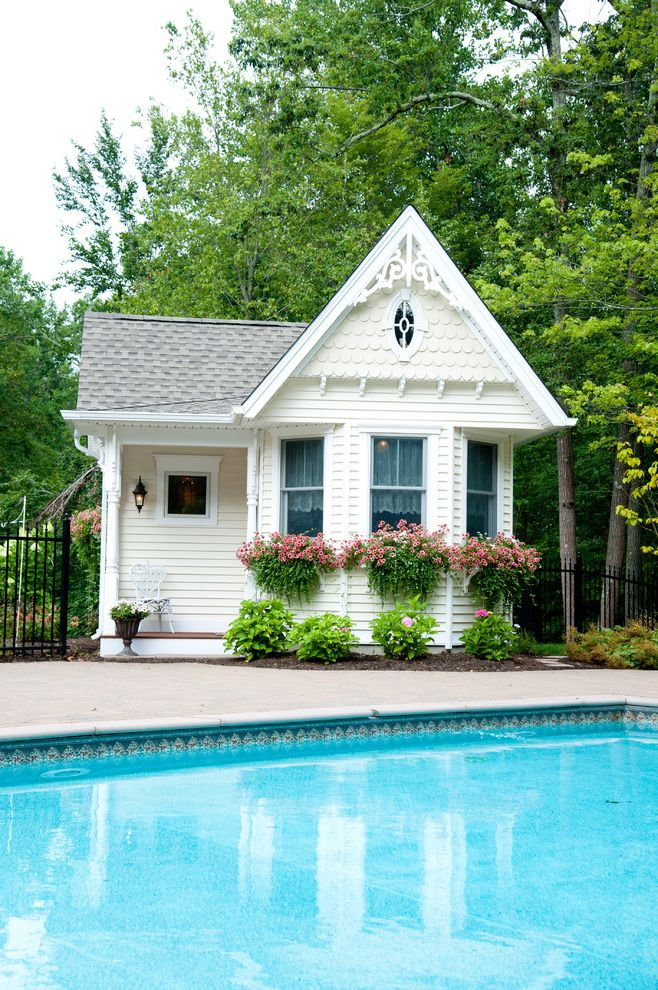 How to Reduce Dust in My House with Victorian Pool  and Additions Flower Baskets New Addition New Outdoor Space Outdoor Living Pool House Victorian Design Victorian Style White Trim Window Boxes