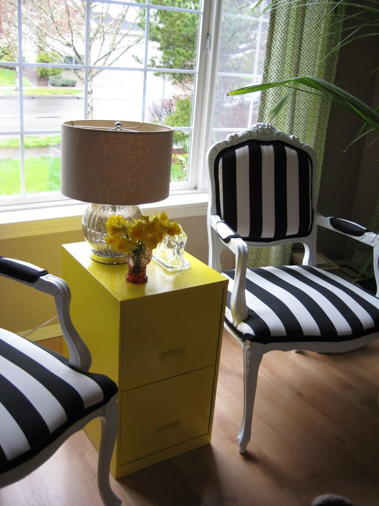 How to Spray Paint Metal Furniture with Eclectic Living Room and Eclectic