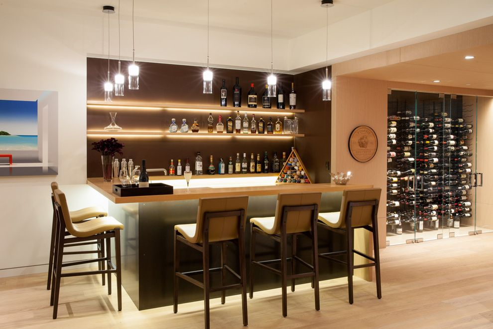 How to Wire Led Light Bar with Contemporary Home Bar Also Cove Lighting Drinks Cabinet Wine Cave Wine Cellars Wine Rack Wine Racks Wine Storage Wood Bar Stools