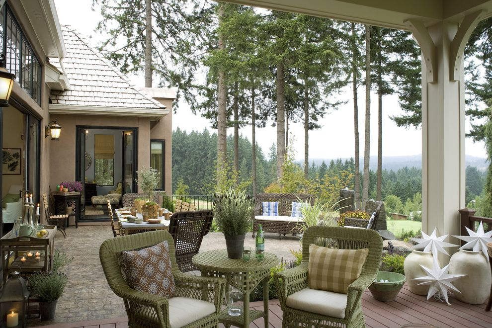 Hunt Country Furniture with Traditional Patio  and Cafe Chairs Container Plants French Country French Provincial Gorge Outdoor Cushions Outdoor Dining Patio Furniture Potted Plants View Wicker Furniture