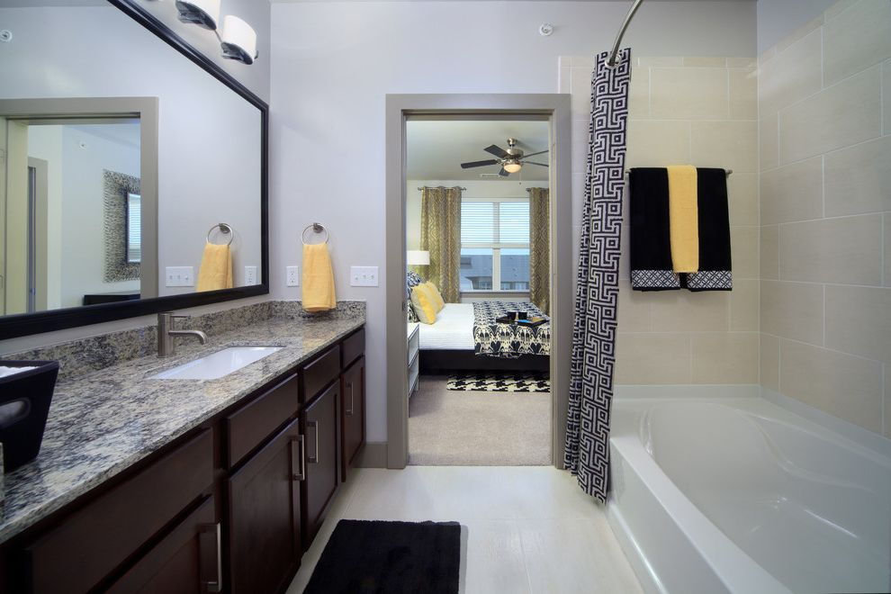 Icon at Dulles   Transitional Bathroom Also Granite Shaker Style Tile