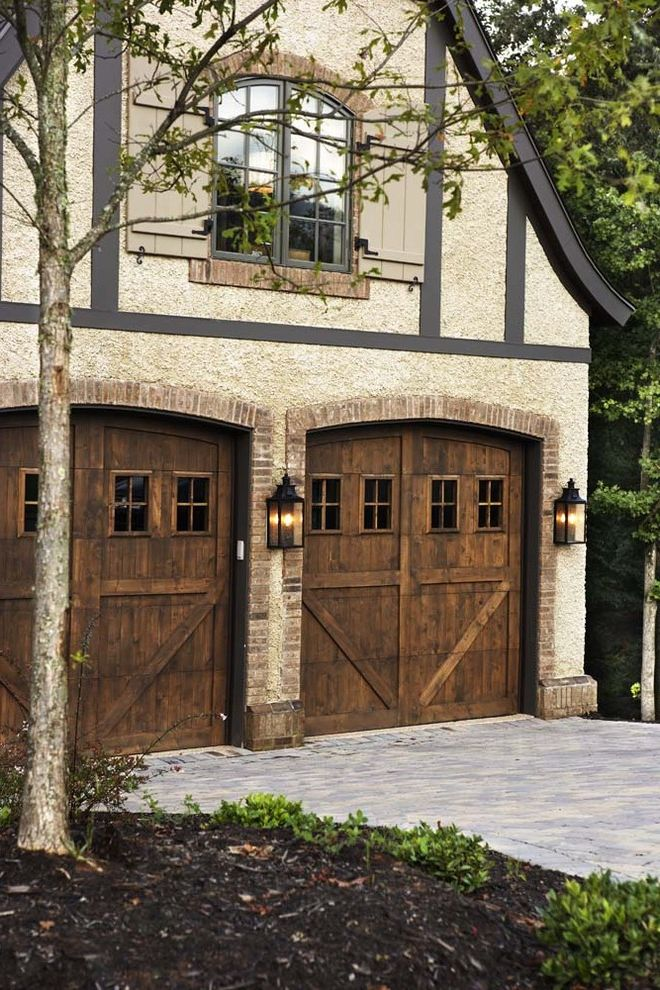 Ideal Garage Door Parts   Rustic Garage Also Contemporary Exterior Garage Landscape Lighting Rustic Sconce