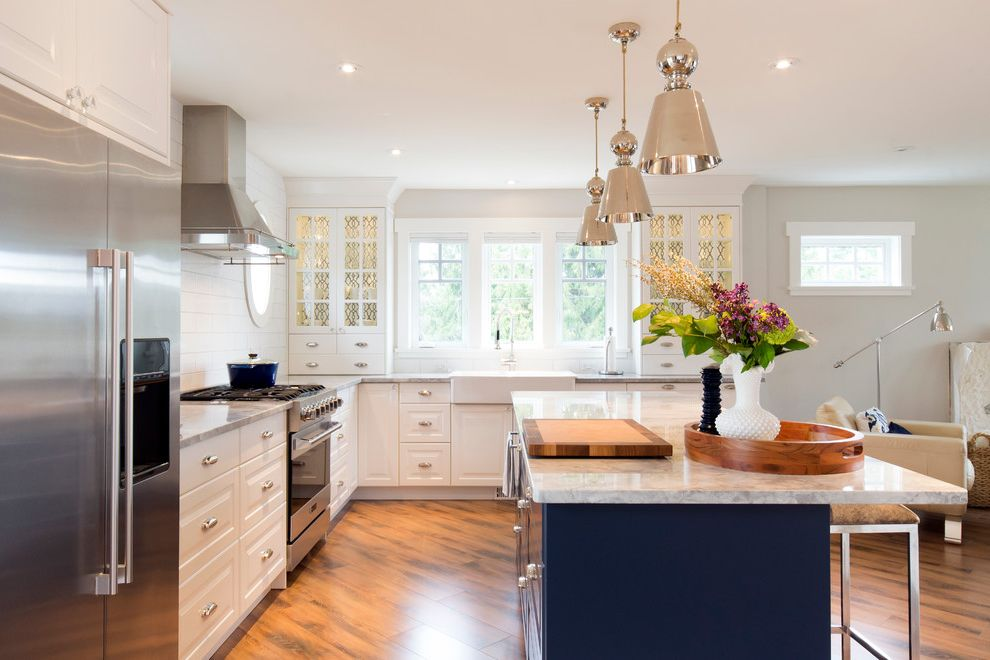 Ikea in Long Island   Transitional Kitchen Also Blue Kitchen Island Cup Pulls Glass Front Cabinets Kitchen Island Lighting
