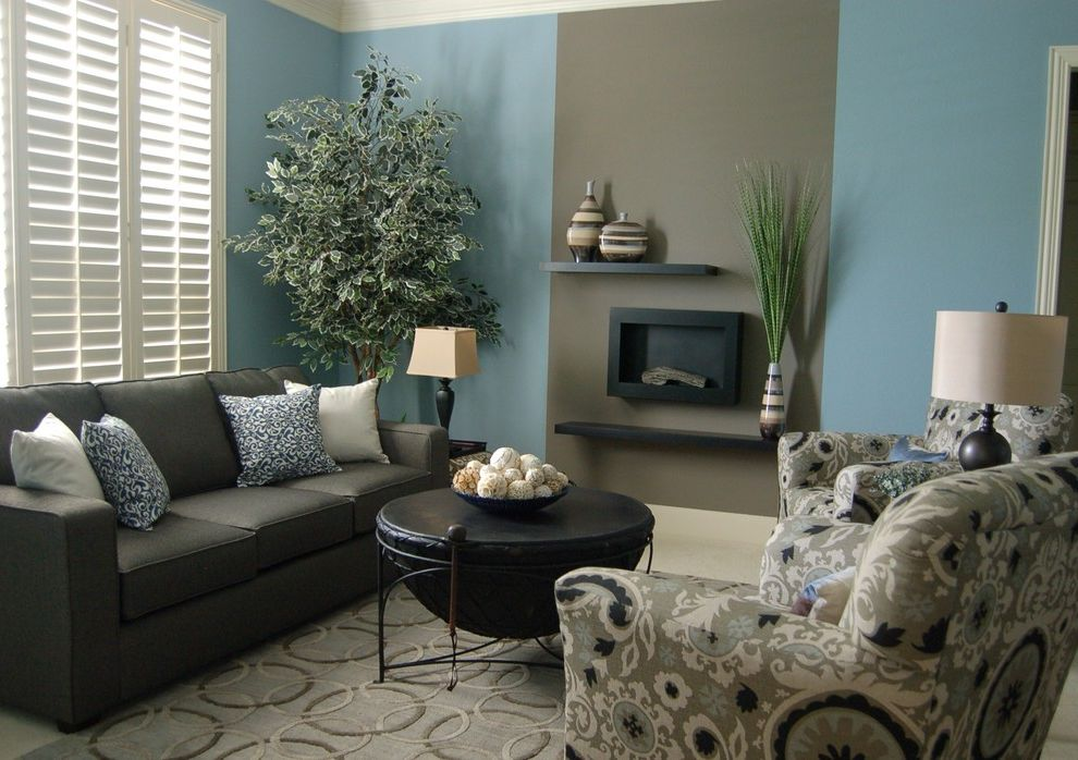 Iometro   Traditional Living Room  and Faux Fireplace I O Metro