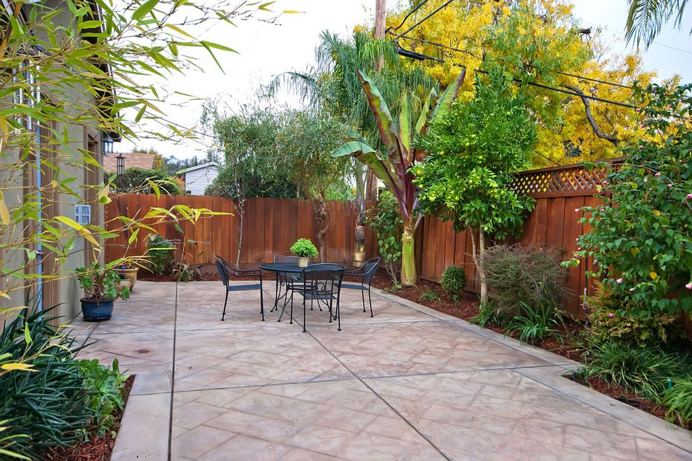 Is Asphalt Cheaper Than Concrete with Traditional Patio Also Backyard Dining Area Enclosed Yard Fence Patio Paved Patio Plants Small Yard