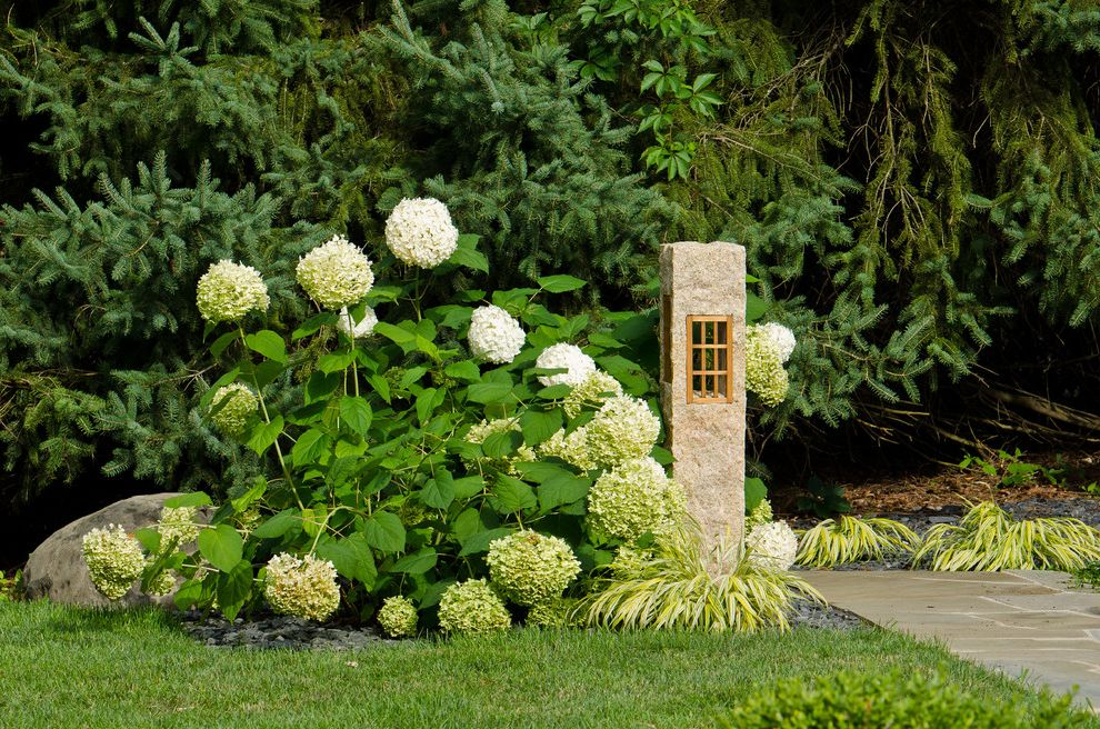 Japanese Outdoor Lanterns With Asian Landscape Also Asian Garden